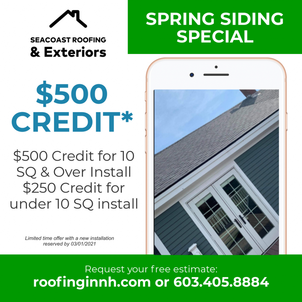 Spring Siding Installation Special by Seacoast Roofing & Exteriors